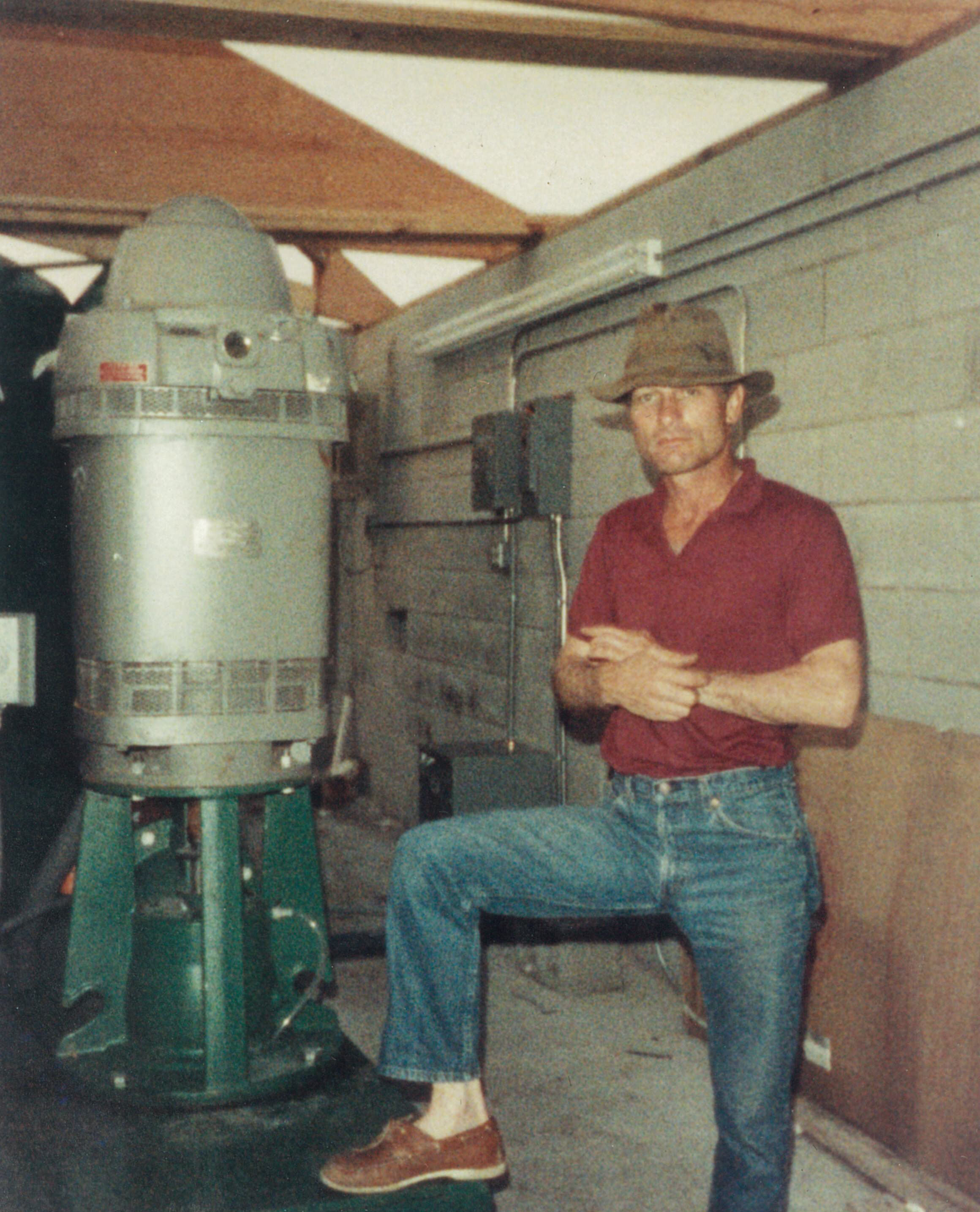 DaddyInPumpStation_MyrtleBeachSC_July1989